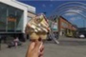 ​How long does an ice cream last when it's hot in Derby? We...