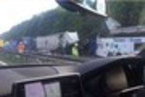 Police appeal for witnesses to M25 crash which left two men with...