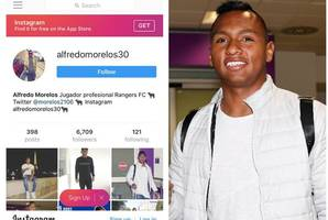 alfredo morelos is a rangers player according to his instagram account as colombian ace closes in on ibrox deal