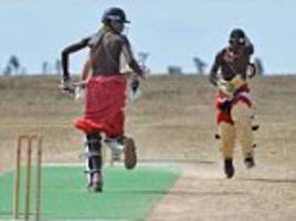 maasai warriors team up with british army for cricket