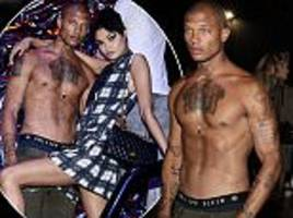 Shirtless Jeremy Meeks steals spotlight at fashion show