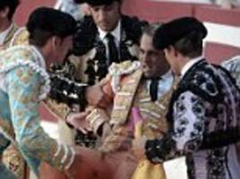 bull gores matador to death during a show in france