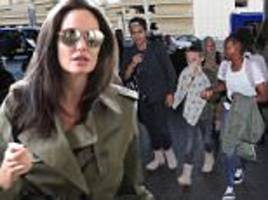 Angelina Jolie jets off with kids day before Father's Day