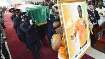 funeral of ivory coast footballer tiote held in abidjan
