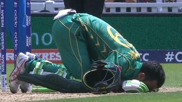 watch: fakhar brings up century with a four