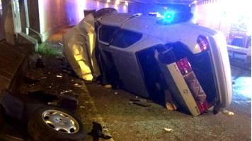 'Miraculous' escape for man and children as car goes off Birmingham flyover