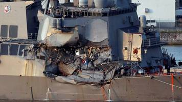 missing us navy sailors found dead after collision off japan
