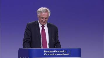 Brexit talks: Davis 'determined optimist' after day one