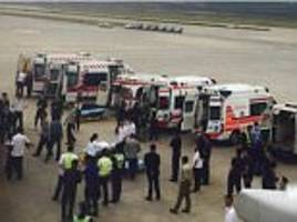 dozens injured on a china eastern airlines' plane