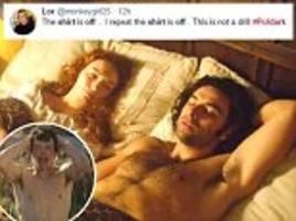 Poldark leaves viewers flustered with topless scene