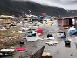 Locals flee tsunami in Greenland leaving four missing