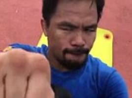 pacquiao shares workout video as he prepares for horn bout