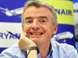 ryanair boss michael o'leary cashed in shares worth £63m