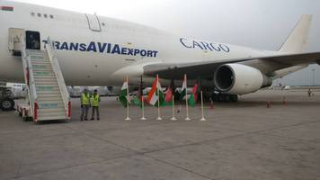 First air freight corridor flight between India and Afghanistan arrives in Delhi
