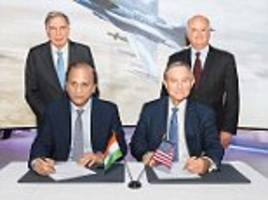 lockheed and tata sign pact to make f-16 jets in india