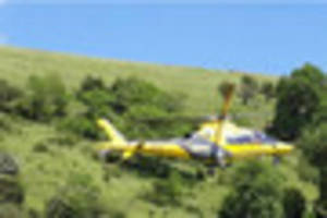 Paraglider rescued by Buxton Mountain Rescue Team after crash...