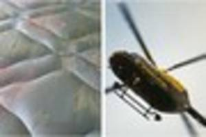 devon mattress mix-up sees police helicopter and ground units...