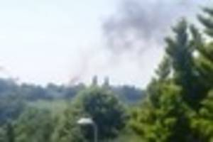 Plumes of smoke above Exeter after vehicle fire - live updates