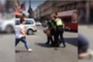 Plymouth man captures moment 'armed man' is taken down by police