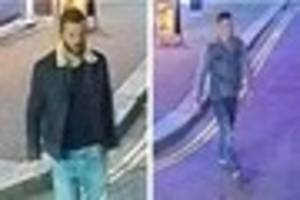 Police want to talk to these two men after an attack in North...