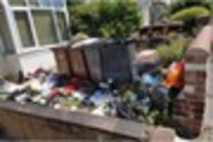 student house left in a 'state' after mountain of rubbish is...
