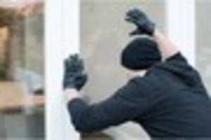 thieves smash door and make off with cash and jewellery in...
