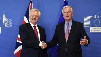 Brexit negotiations: David Davis 'positive' as first meeting begins