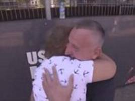 Grenfell Tower survivor reunited with man who saved her