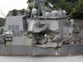 US sailors 'were trapped ALIVE as USS Fitzgerald sank'