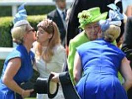 Zara Tindall showers Royal Ascot with kisses