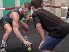 conor mcgregor works on hand-eye coordination