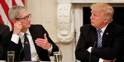 apple ceo tim cook talked to trump about immigration (aapl)