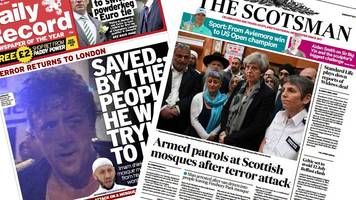 scotland's papers: mosque suspect identified