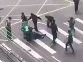 brazilian football fans fighting video goes viral