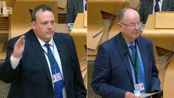 Two new Conservative MSPs sworn in at Holyrood