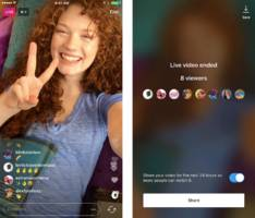 instagram adds 24-hour live video replays to stories