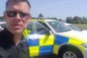 Dog-loving police officer issues plea to pet owners  in heatwave