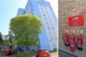 high-rise st austell park house flat residents receive safety...