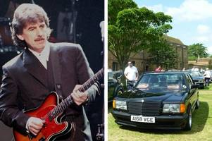 fab - now you can own a merc once driven by beatle george harrison