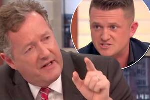 EDL founder Tommy Robinson's heated debate with Piers Morgan on Good Morning Britain sparks furious outrage