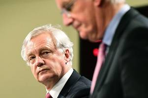 First round goes to the EU in Brexit talks as David Davis lets Michel Barnier dictate negotiations
