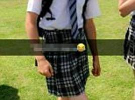 schoolboys beat the heat by wearing skirts to school