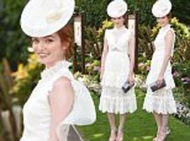 Royal Ascot: Poldark's Eleanor Tomlinson wows in lace gown
