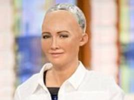 robot sophia talks to piers morgan and susanna reid on gmb