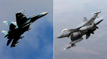 Caught On Video: Russian, NATO Jets In Near Standoff After F-16 Buzzes Defense Minister's Airplane