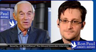 ron paul interviews snowden on the rise of the deep state