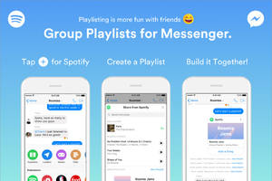 Now you can build shared Spotify playlists with your friends in Facebook Messenger