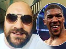tyson fury calls anthony joshua a 'bum' in bizarre rant