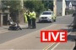 Serious incident in Newton Abbot as van collides with mobility...