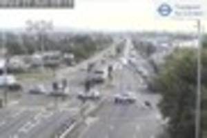 A12 queues at Romford as road is closed by burst water main